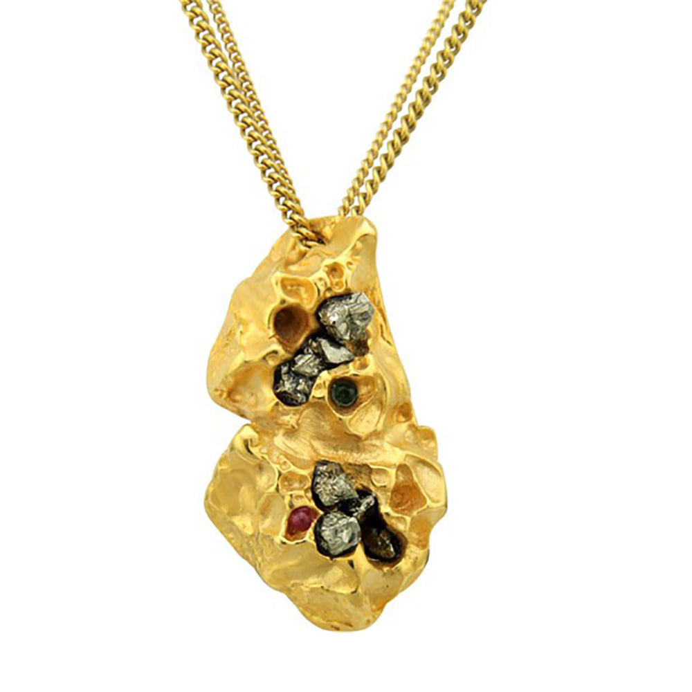 Honeycomb Nugget Necklace
