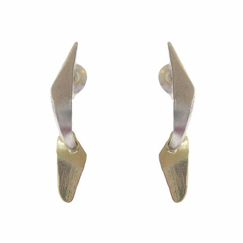 Two Tone Flint Earrings