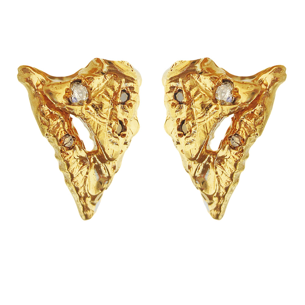 Shield Diamond Earrings