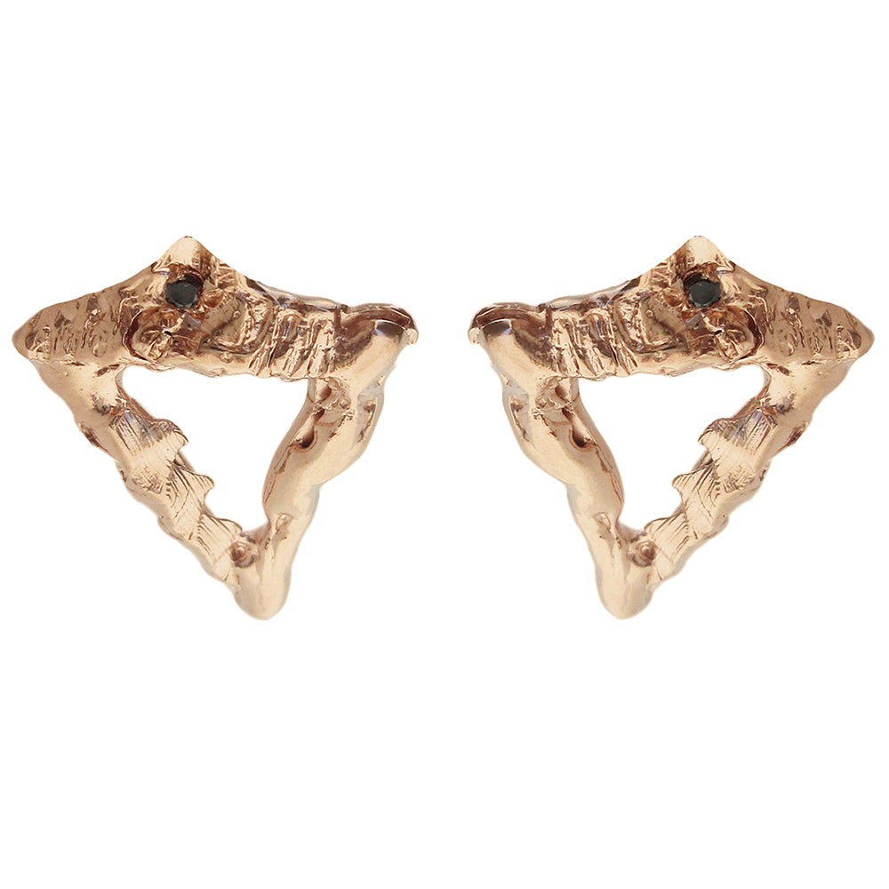 Open Spear Diamond Earrings