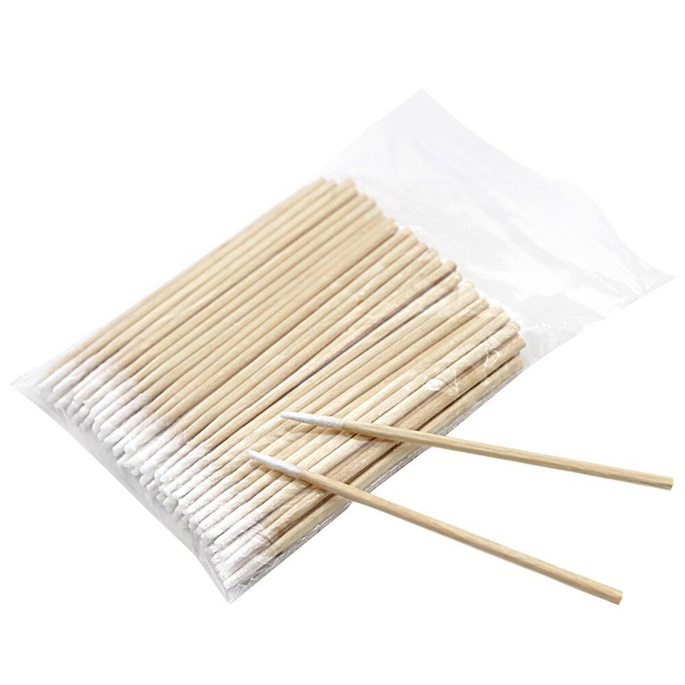 200pcs wood cotton swabs Cosmetics Mini Pointed Tip head Abacterial Clean tip Sticks Permanent Makeup Health Medical cotton swab