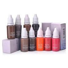 Load image into Gallery viewer, 6pcs Eyebrow&eyeliner& lip Semi Permanent Makeup Tattoo ink brand Micro pigment  Lasting Long 15ml cosmeticsbeauty