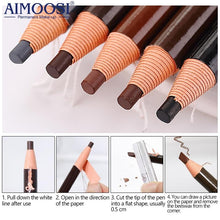 Load image into Gallery viewer, Hot sale 1pcs Profesional Permanent Makeup Tattoo pen Microblading eyebrow pencil microblading eyebrow pen