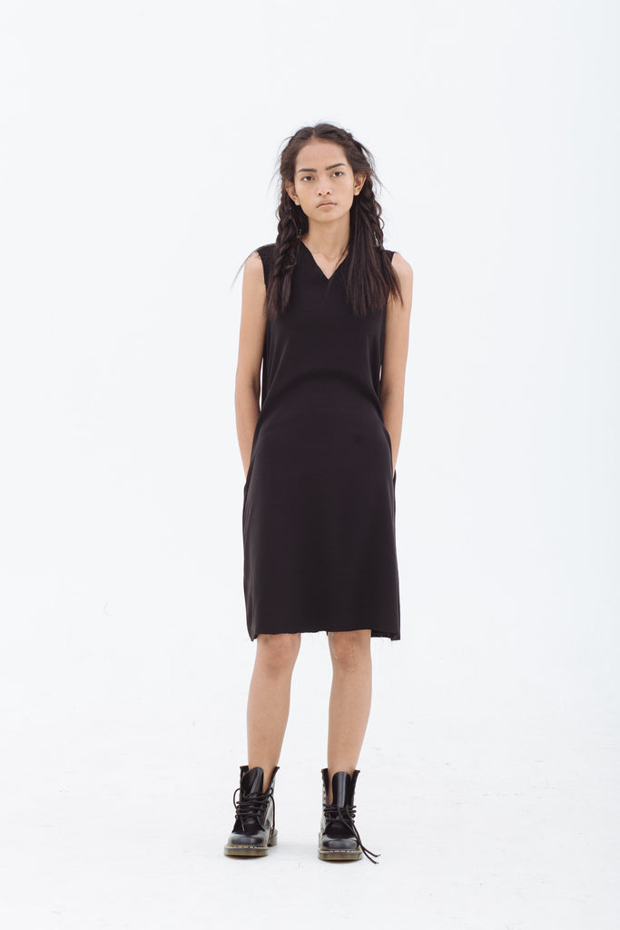 FURTHER REDUCTION: Frayed V-Neck Dress