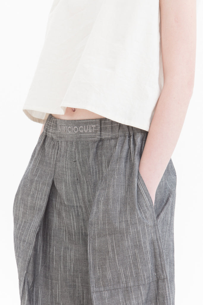 Grey Raindrops Pull Up Pants