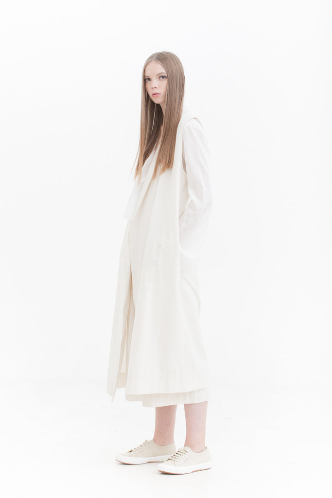 Lurik Long Oversized Vest