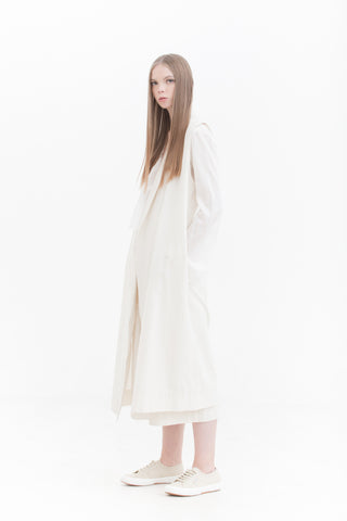 lurik-long-oversized-vest-white