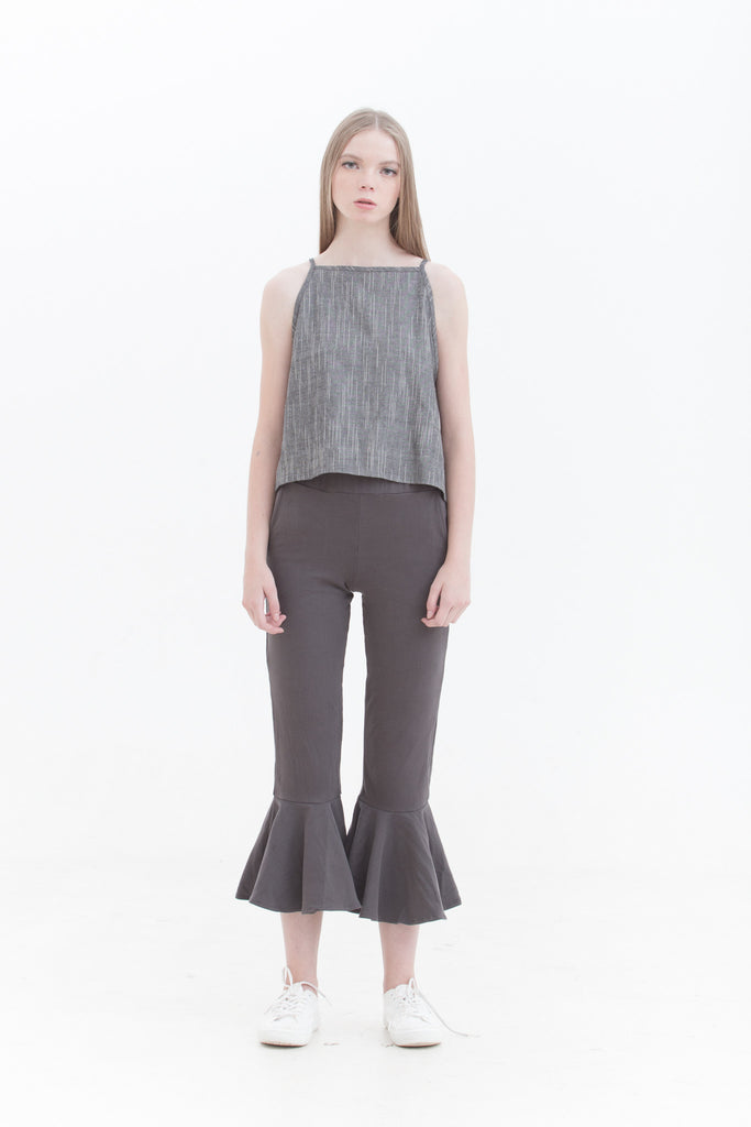 LAST FEW: Mud Crop Flare Pants