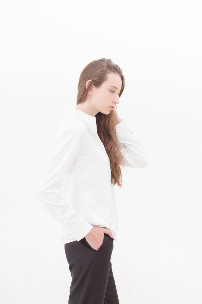 White Easy Long Sleeve Shirt
