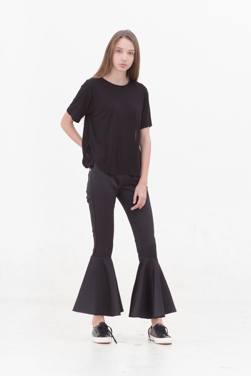 Black Slit T-Shirt
