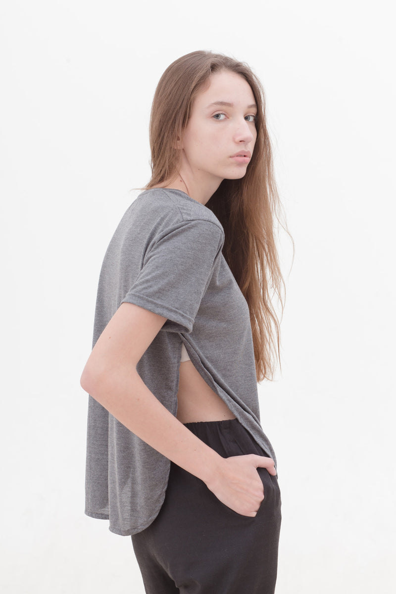 Cathedral Grey Slit T-Shirt