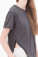 BACK IN STOCK: Magma Grey Slit T-Shirt
