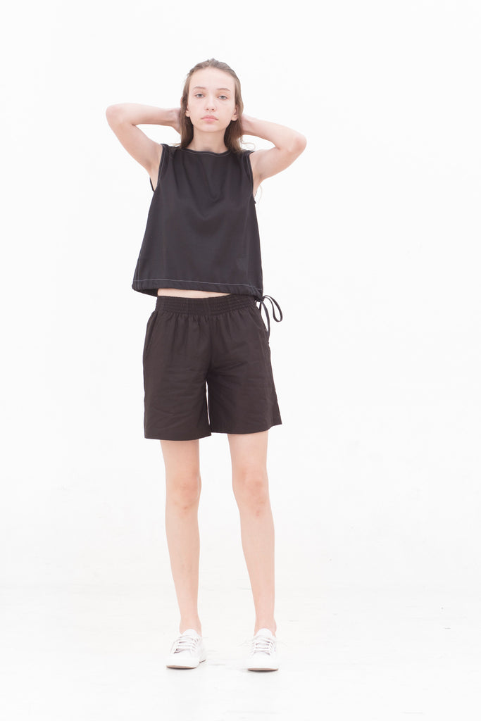 Portraiture Black Shorts