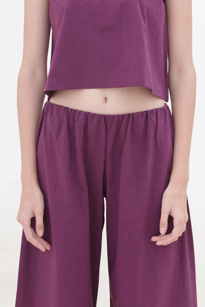 Last Piece — Black Plum Wide Leg Pants