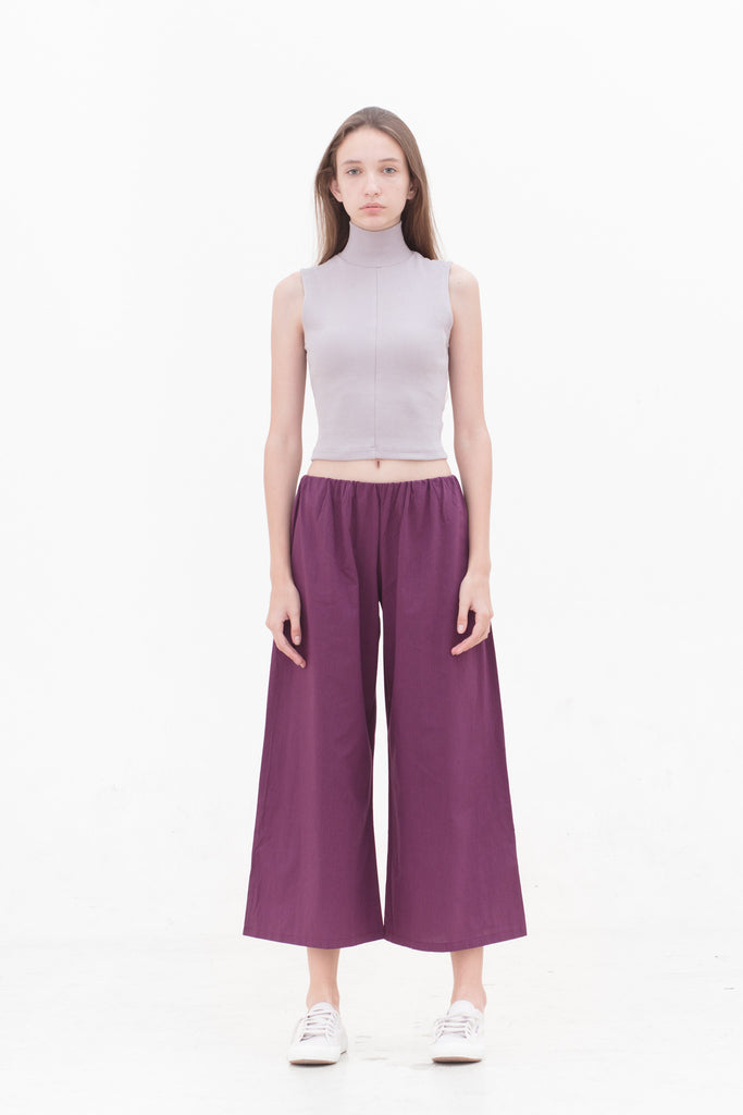 Dusty Lilac High Neck Top