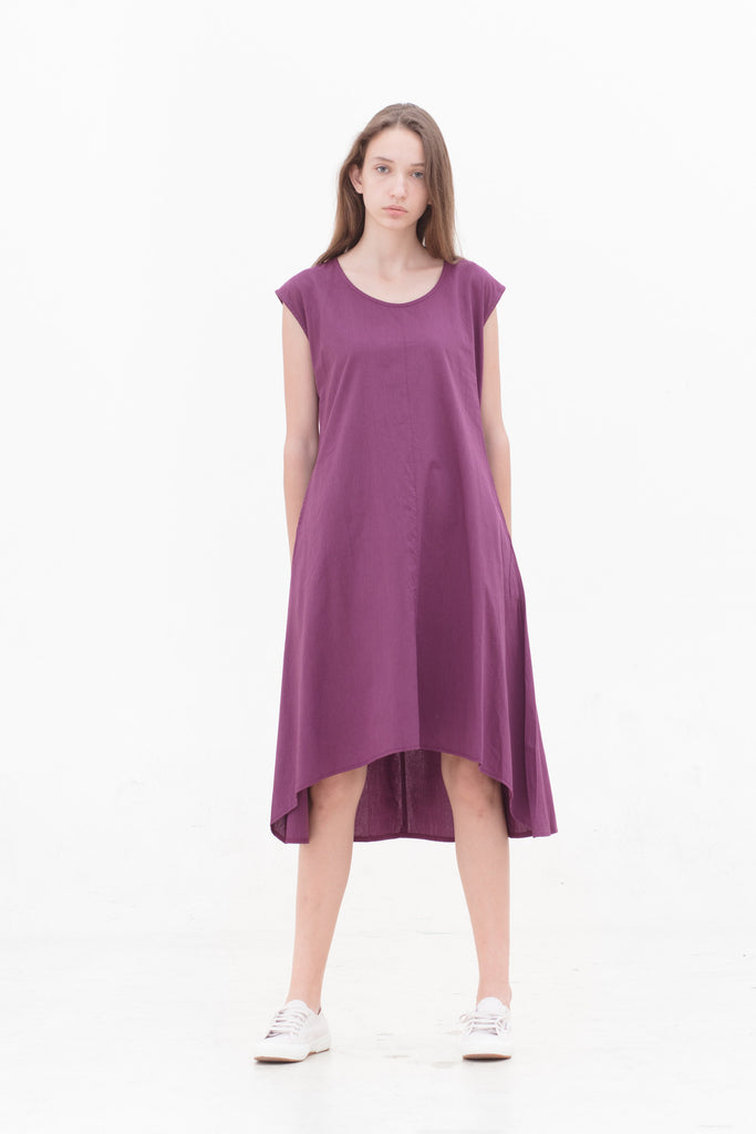 Black Plum Venus Dress