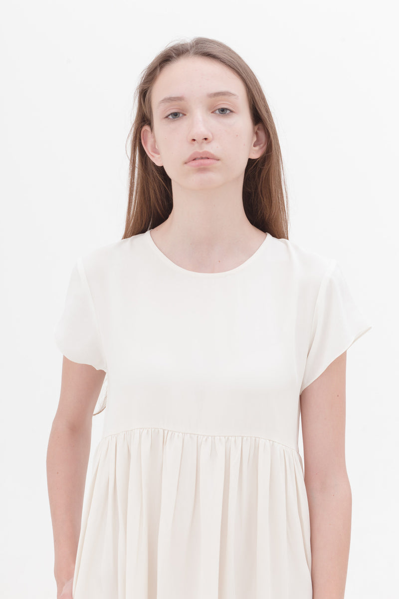 Last Piece — Portraiture Dress Cotton White