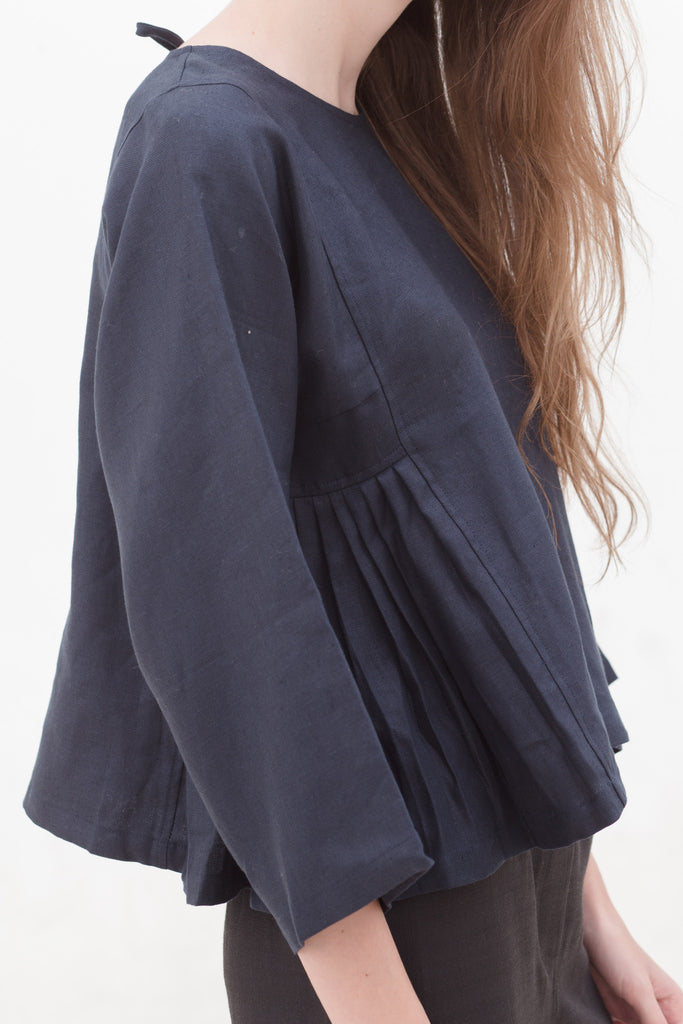 Midnight Navy Adjacent Blouse