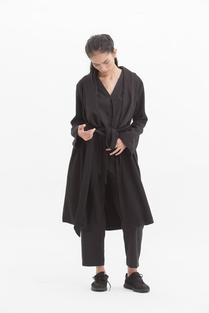 Midnight Long Sleeve Coat