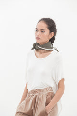 Ecru White Slit T-Shirt