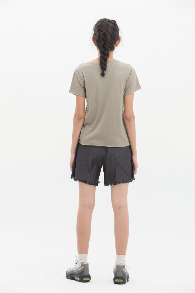 Olive Green Basic T-Shirt