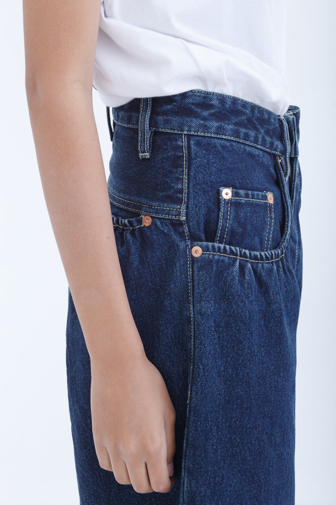 Best Seller —Dark Denim Wide Leg Pants