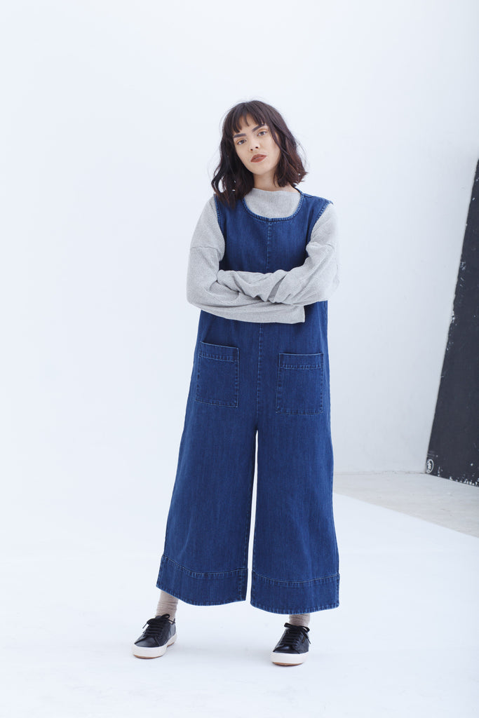 Back In Stock — Blue Denim Jumpsuit