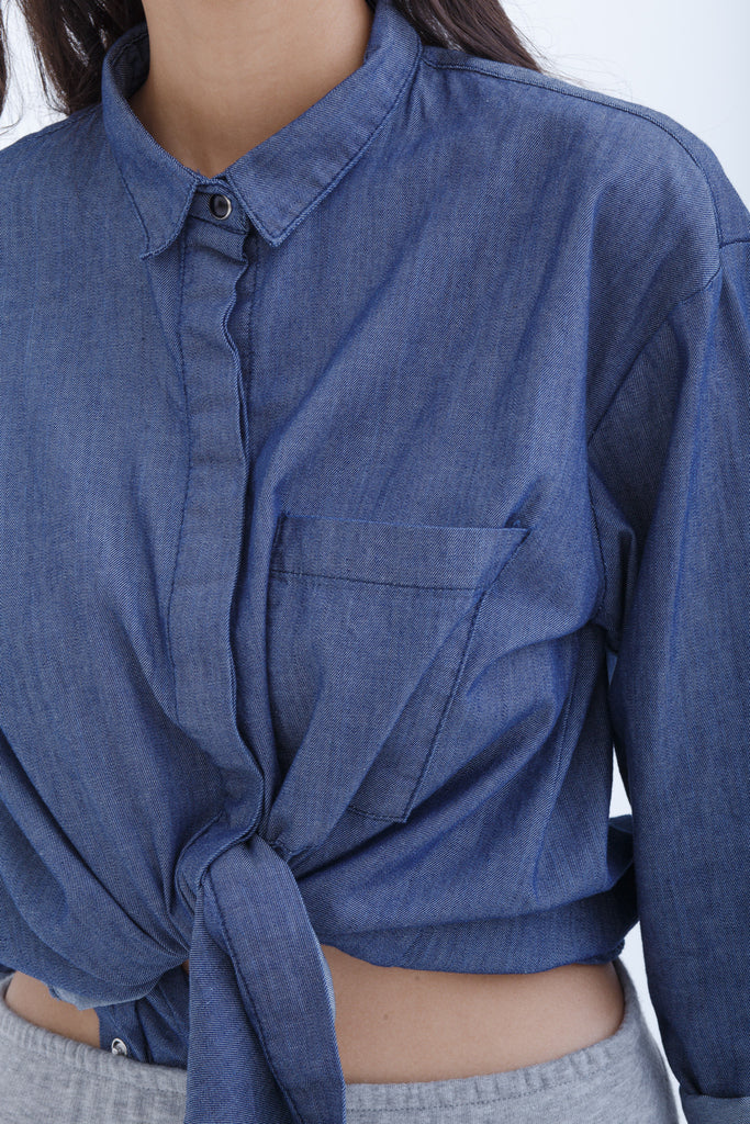 Unisex Chambray Long Sleeve Shirt