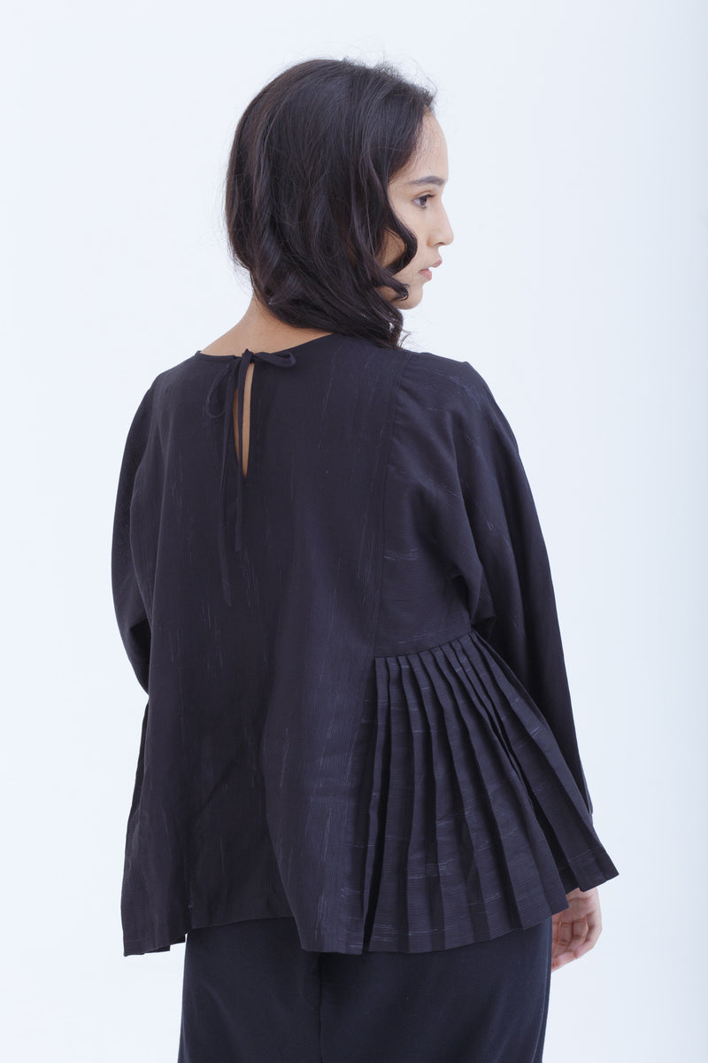 Black Raindrops Adjacent Blouse
