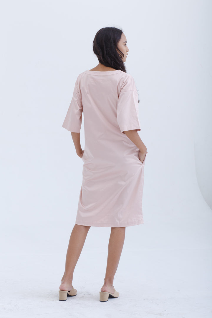 Nisbi Dress in Blush Pink