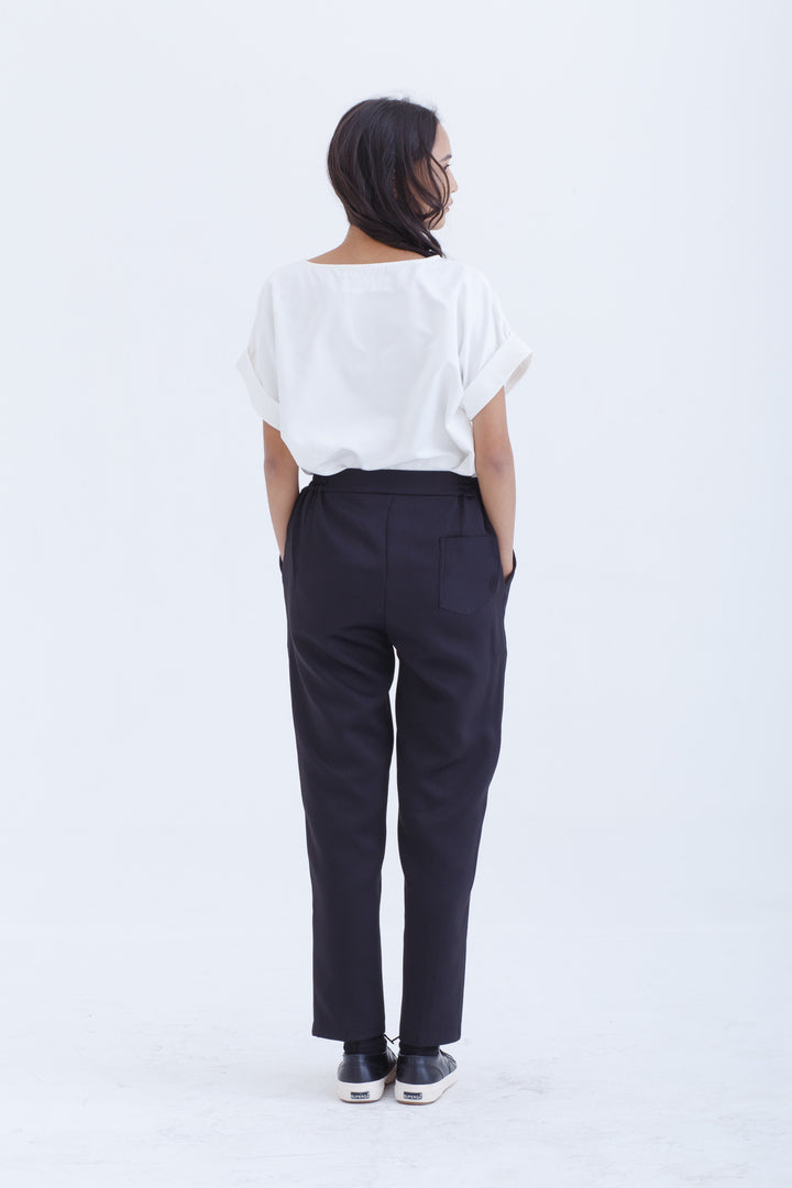 Black Signature Tailored Pants