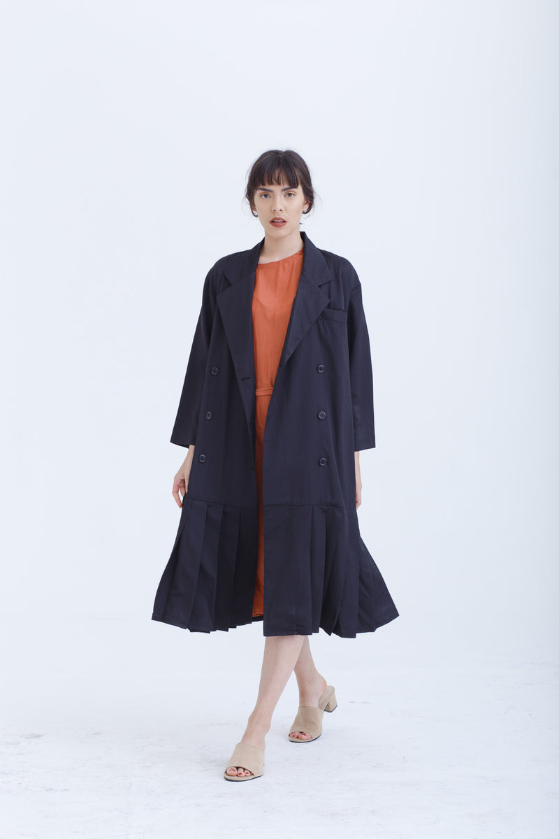 Black Velocity Coat / Dress