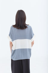 Last Piece — Pale Blue Adjourn Two Tone Shirt