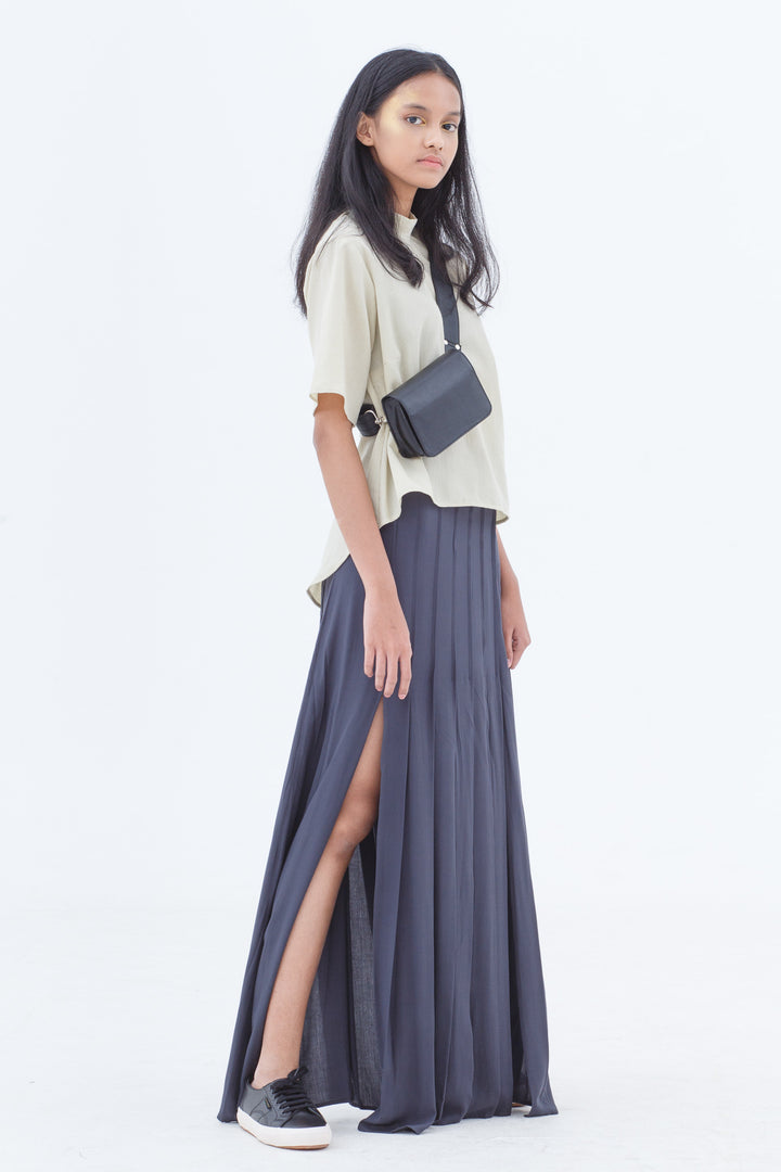 Last Piece — Almost Dark Velocity Maxi Skirt