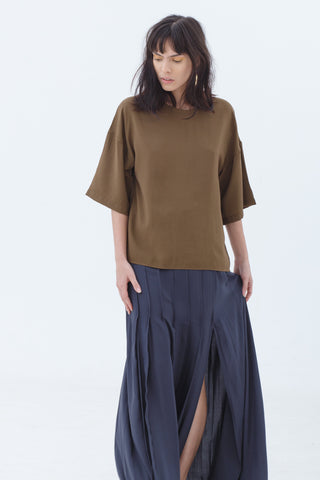 army-two-tone-boxy-wide-sleeve-t-shirt