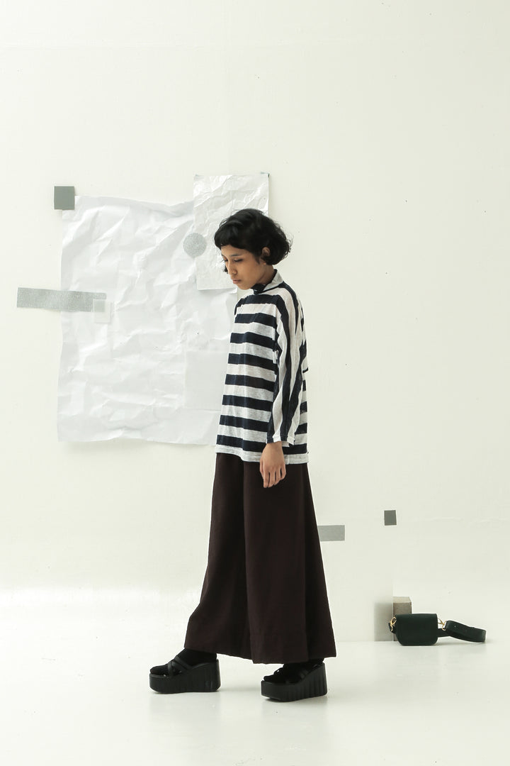 Berangan Top in Navy and White Stripes