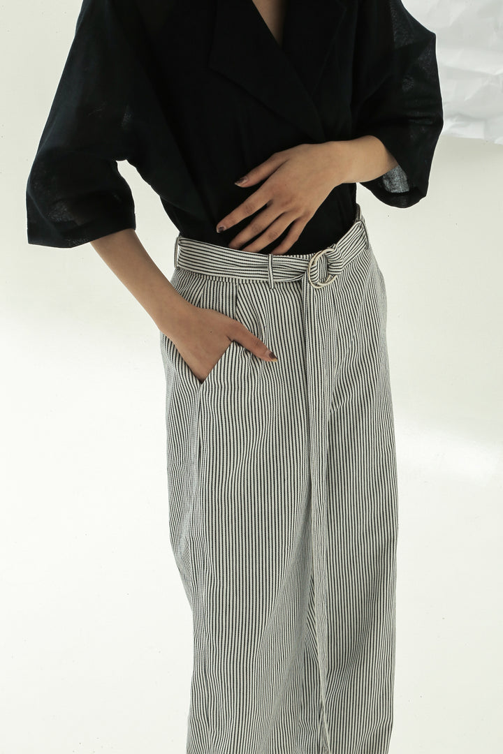 Tiap Tiap Pants in Black & White Stripes