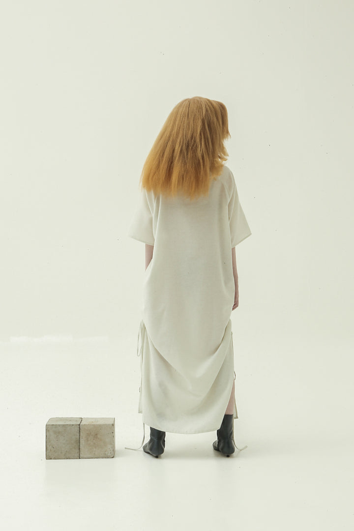 Arang Tunic Dress in Off White