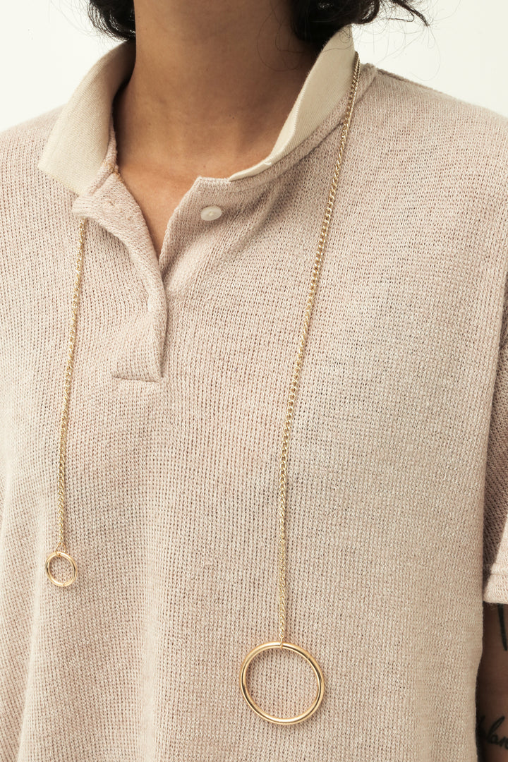Polo T-Shirt in Fuzzy Nude