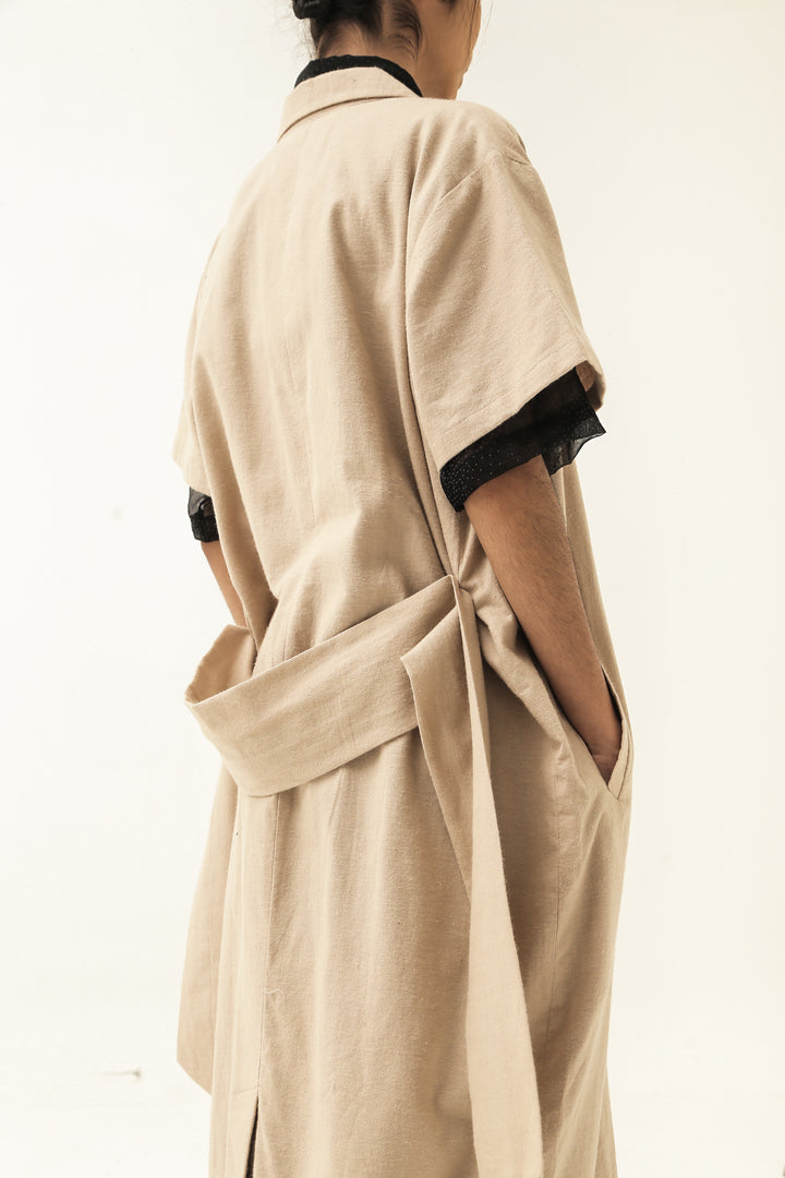 Lembayung Coat Dress in Nutmeat