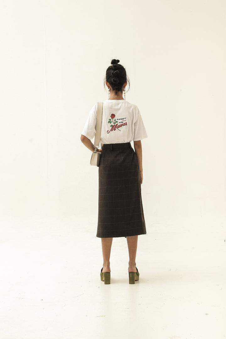 Namaku Mawar T-Shirt in White