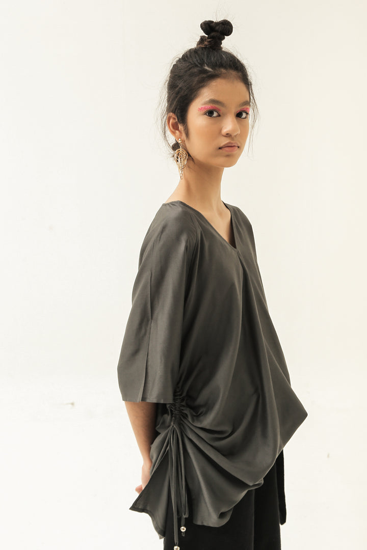 Arang Tunic Top in The Darkest Green