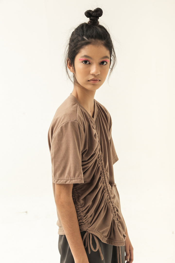 Lajur & Tarik T-Shirt in Washed Brown