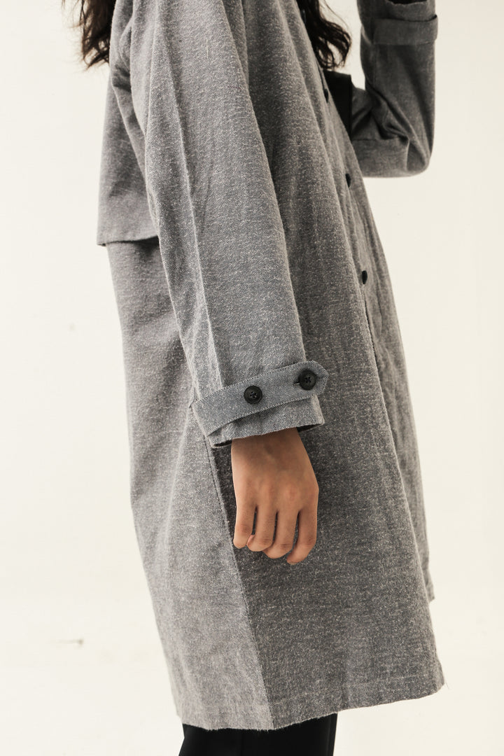 Balai Kota Coat in Washed Blue