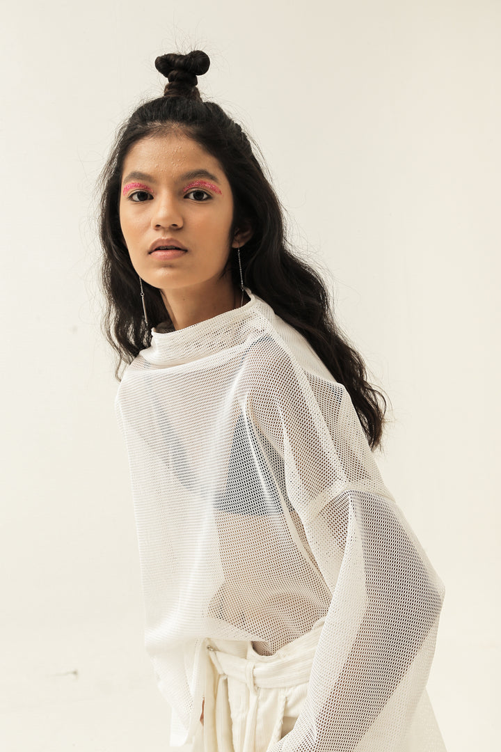 Dewan Long Sleeve Top in White