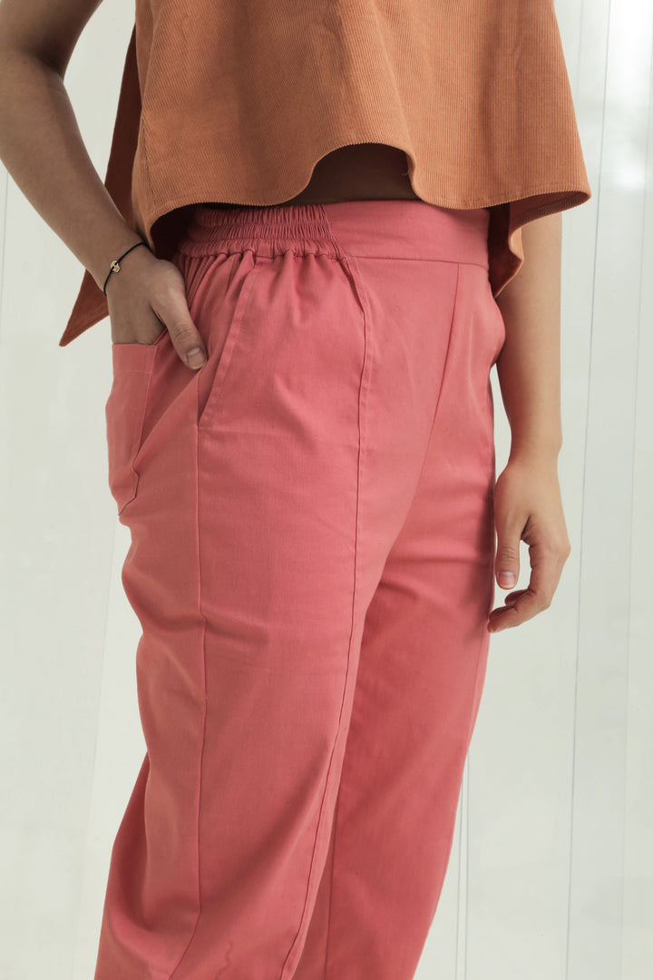 Seluar Crop Pants in Pink