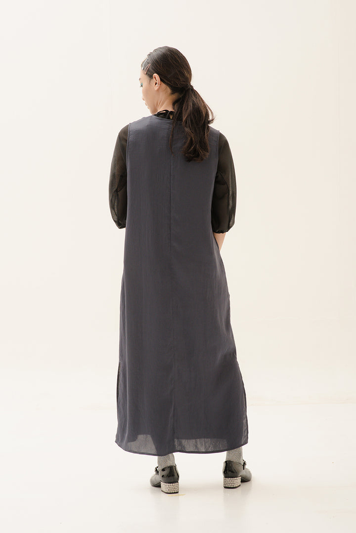 Esensial Inner Midi Dress in Very Dark Grey