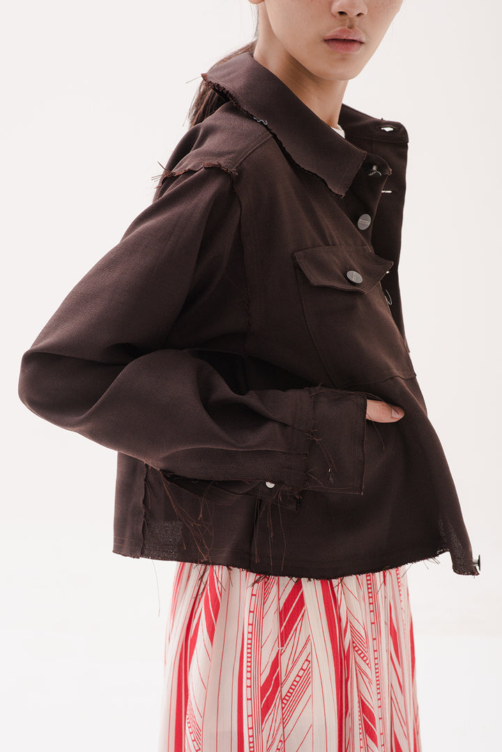 Muda Mudi Jacket in Dark Brown