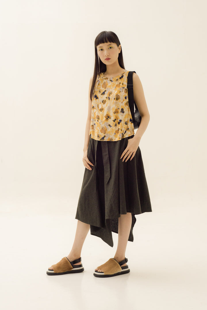 Sesuai Tank in Abstract Washed Yellow