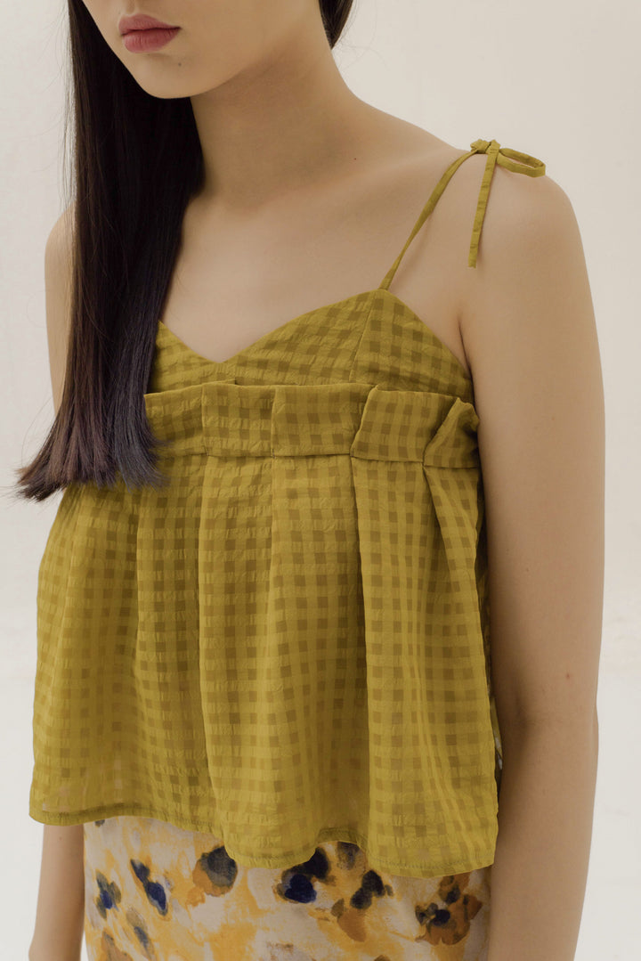Kancil Camisole in Yellow Gingham